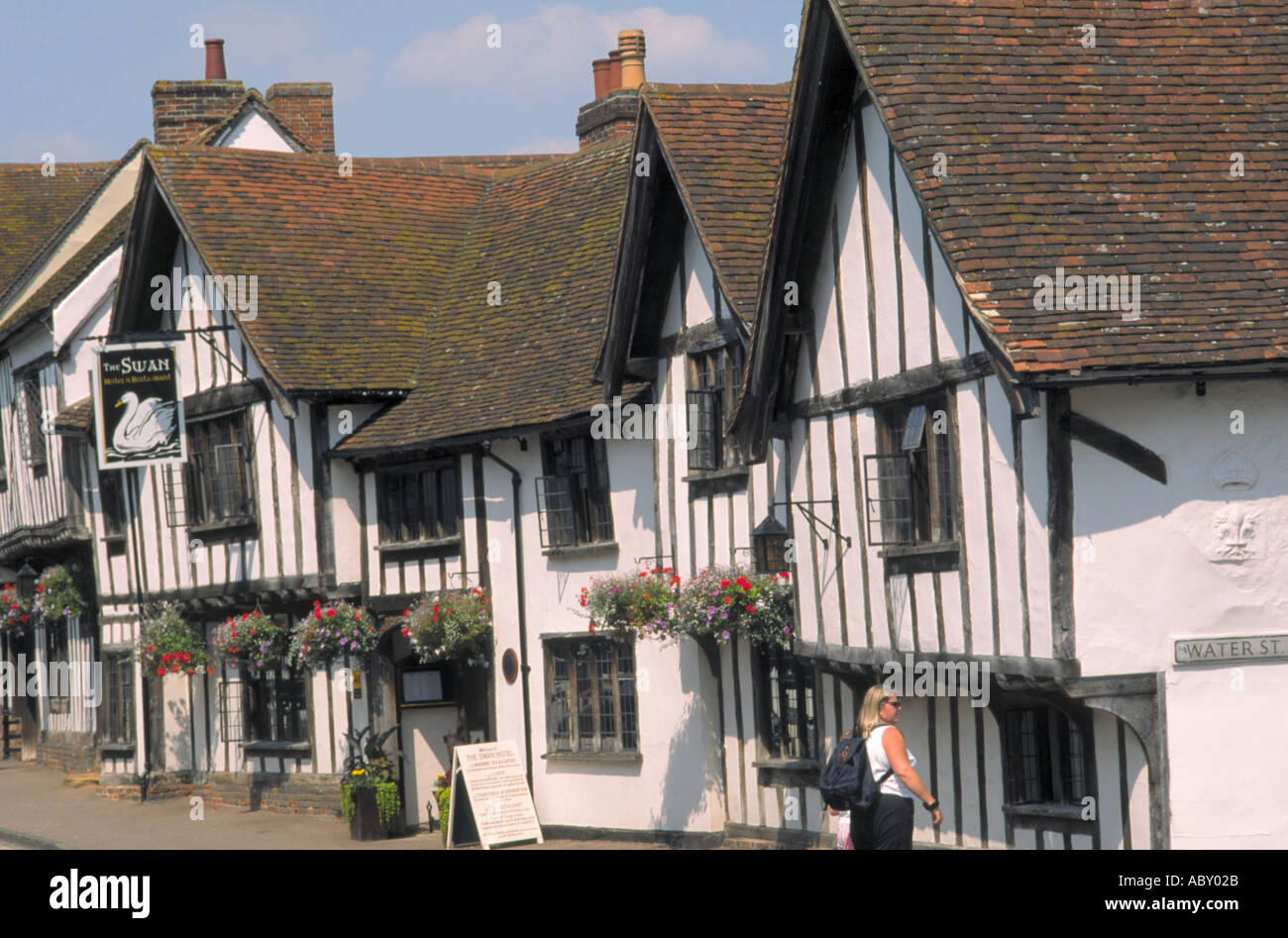 The Swan Hotel High Street Lavenham Suffolk England Stock Photo