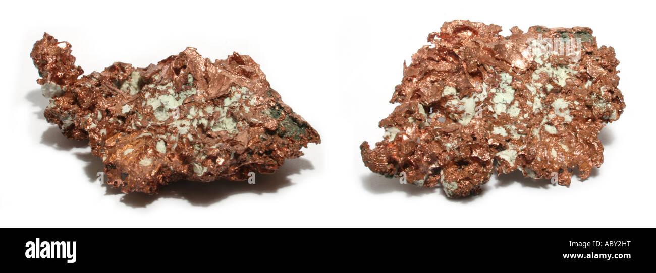Native copper specimen - Stock Image