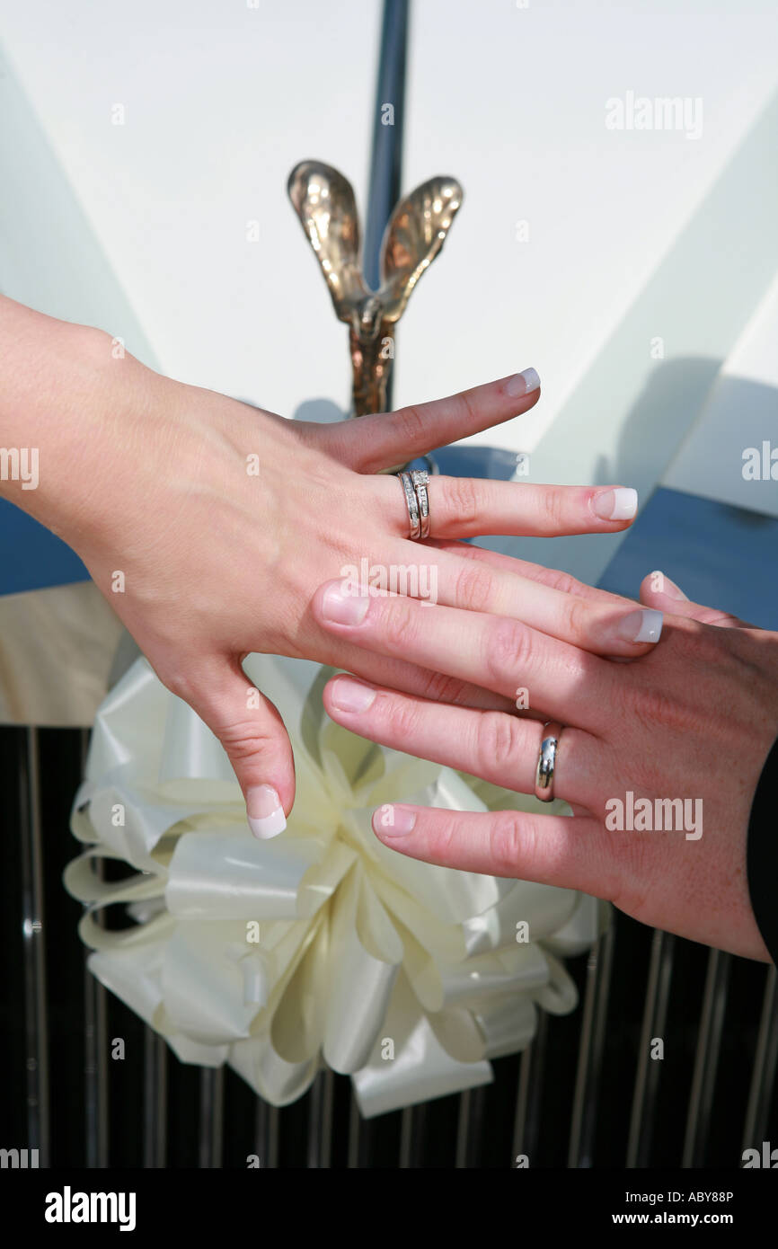 Bride Groom Show Wedding Rings Stock Photos & Bride Groom Show ...