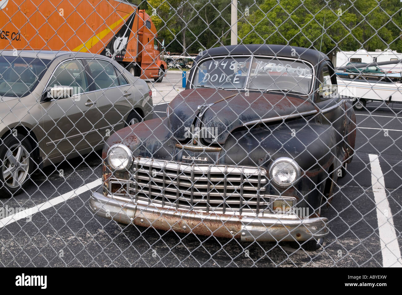 An old 1948 Dodge for sale in Pinellas County Florida Stock Photo ...