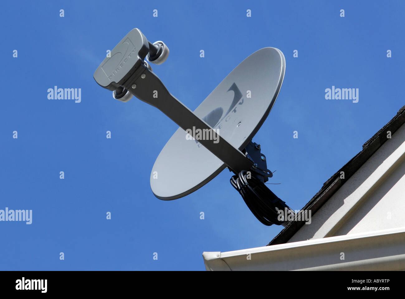 Direct Tv Satellite >> Direct Tv Satellite Dish Mounted Stock Photos Direct Tv