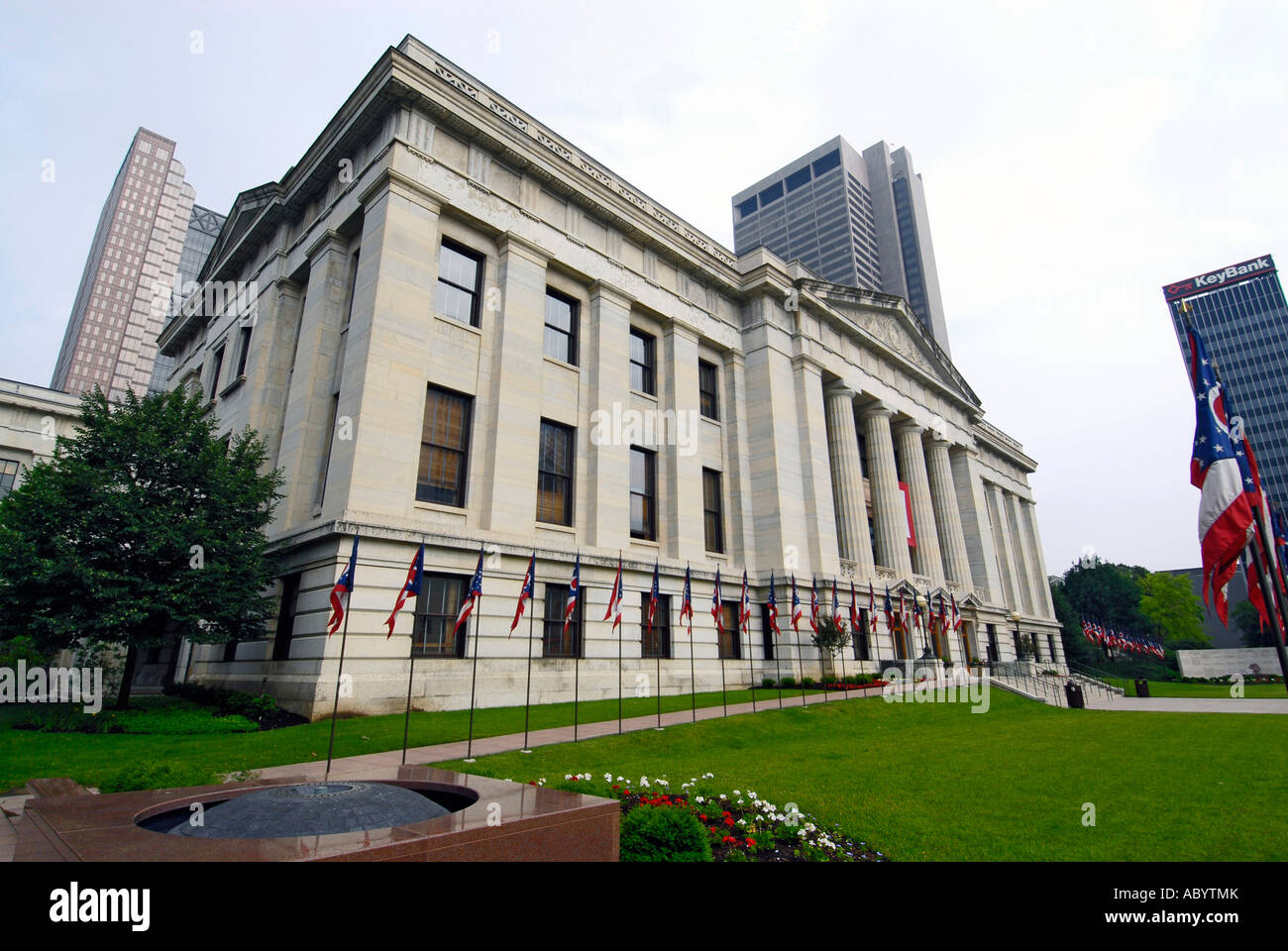 The State Capitol Building at Columbus Ohio OH - Stock Image