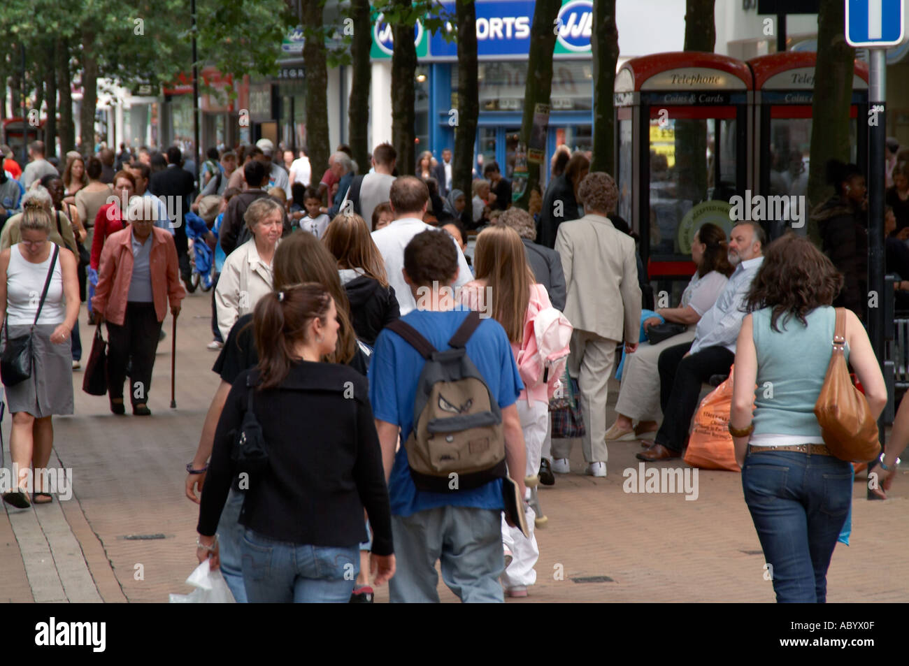 high street sales retail retailing retailer shop shopping shoppers price index economy economic sell sale sales disposable incom - Stock Image