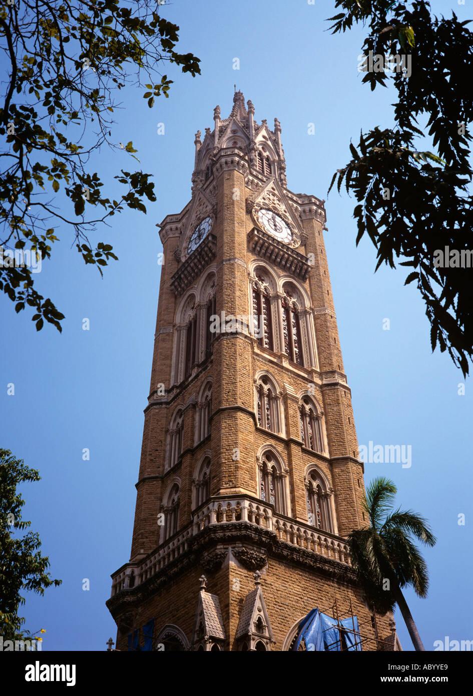 India Maharashtra Mumbai Bombay Rajabai Clock Tower Designed By Giles Stock Photo Alamy