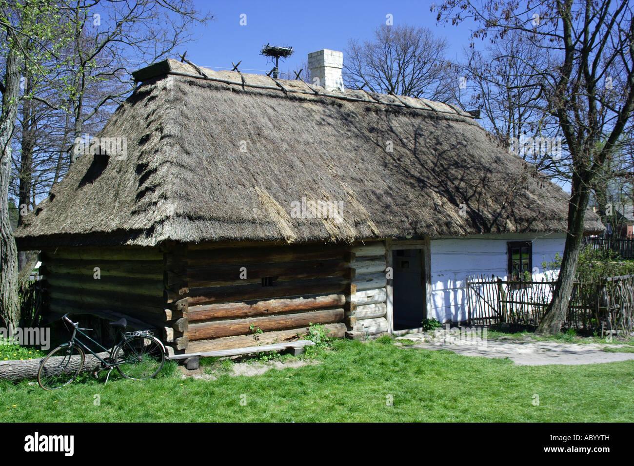 Zagroda Guciow open air museum Poland Stock Photo