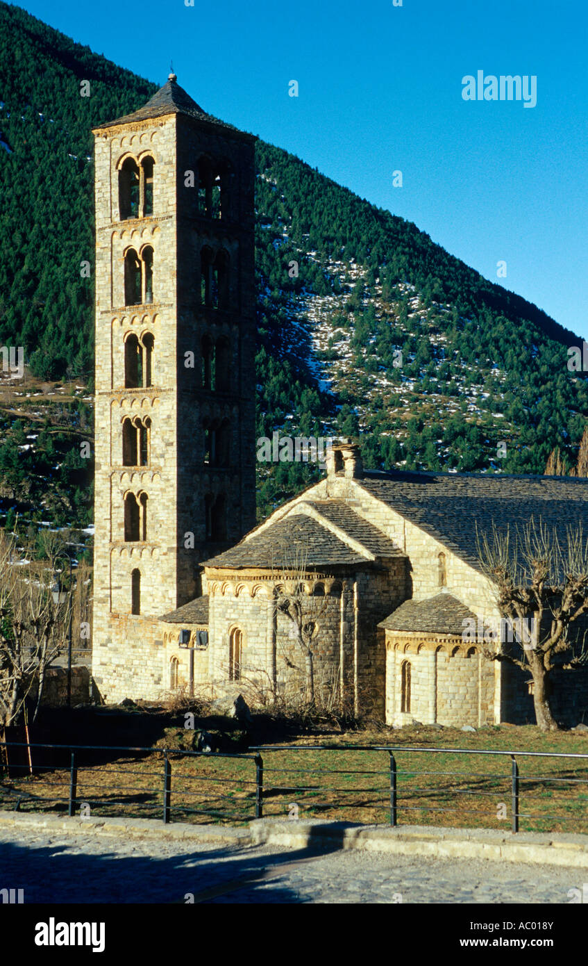 Sant Climent de Taüll. Romanesque church (s. XII). Taull. Alta Ribagorça. Lleida. Spain - Stock Image