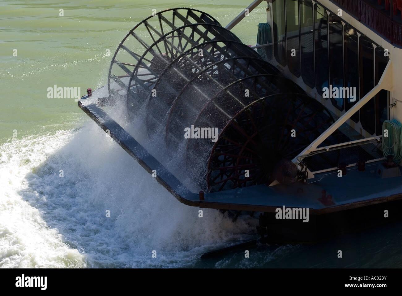 Paddle Wheel of Murray Princess Paddle Steamer Murray River South Australia Australia - Stock Image