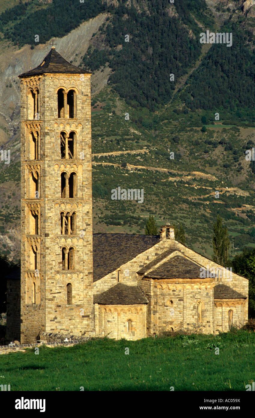 Sant Climent de Taüll. Romanesque church (s. XII). Taüll. Alta Ribagorça. Lleida. Spain - Stock Image