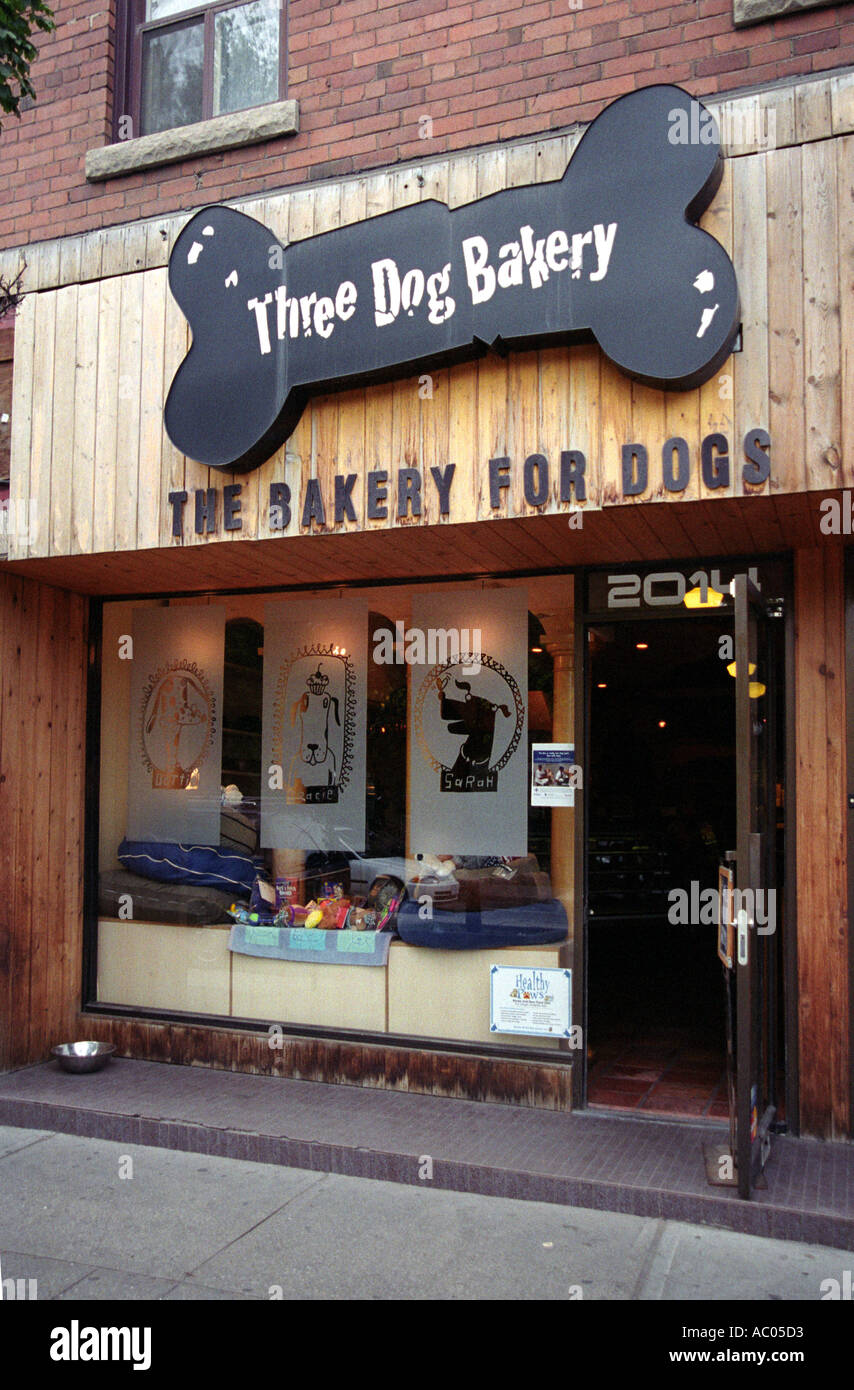 Three Dog Bakery, a bakery for dogs in Toronto, Canada - Stock Image
