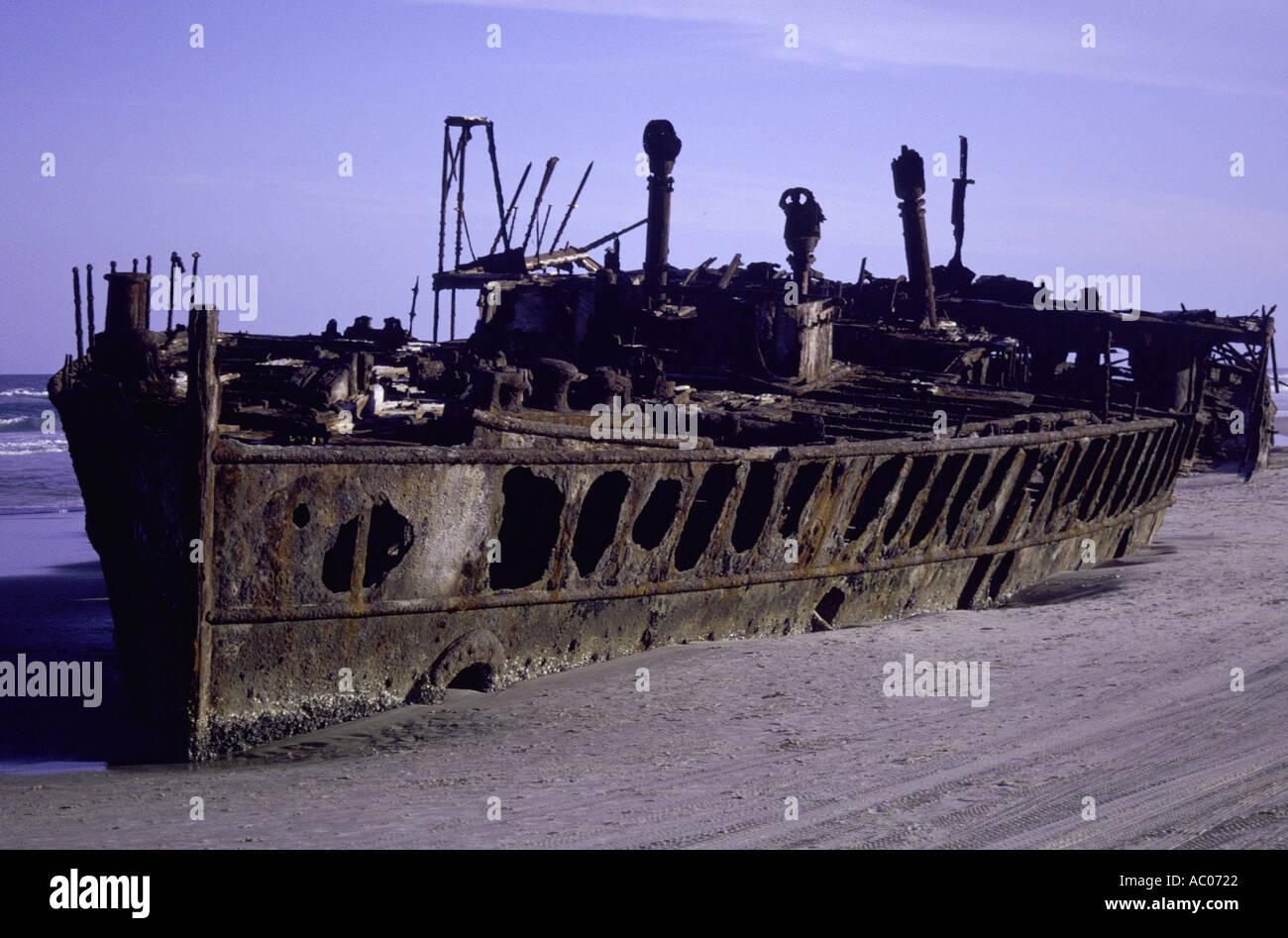 Shipwreck the Maheno - Stock Image