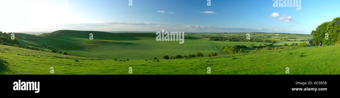 Dunstable Downs in the Chilterns - Stock Image