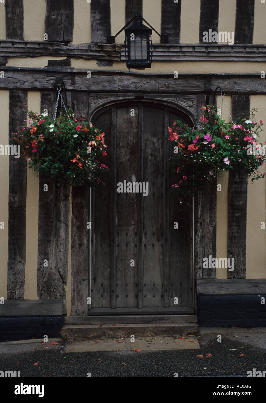 The old English village of Lavenham in Suffolk Uk Stock Photo