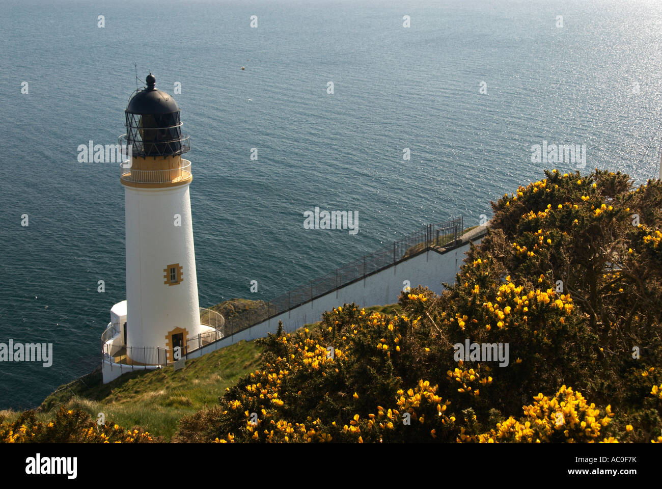 Lighthouse At Maughold Head IOM - Stock Image