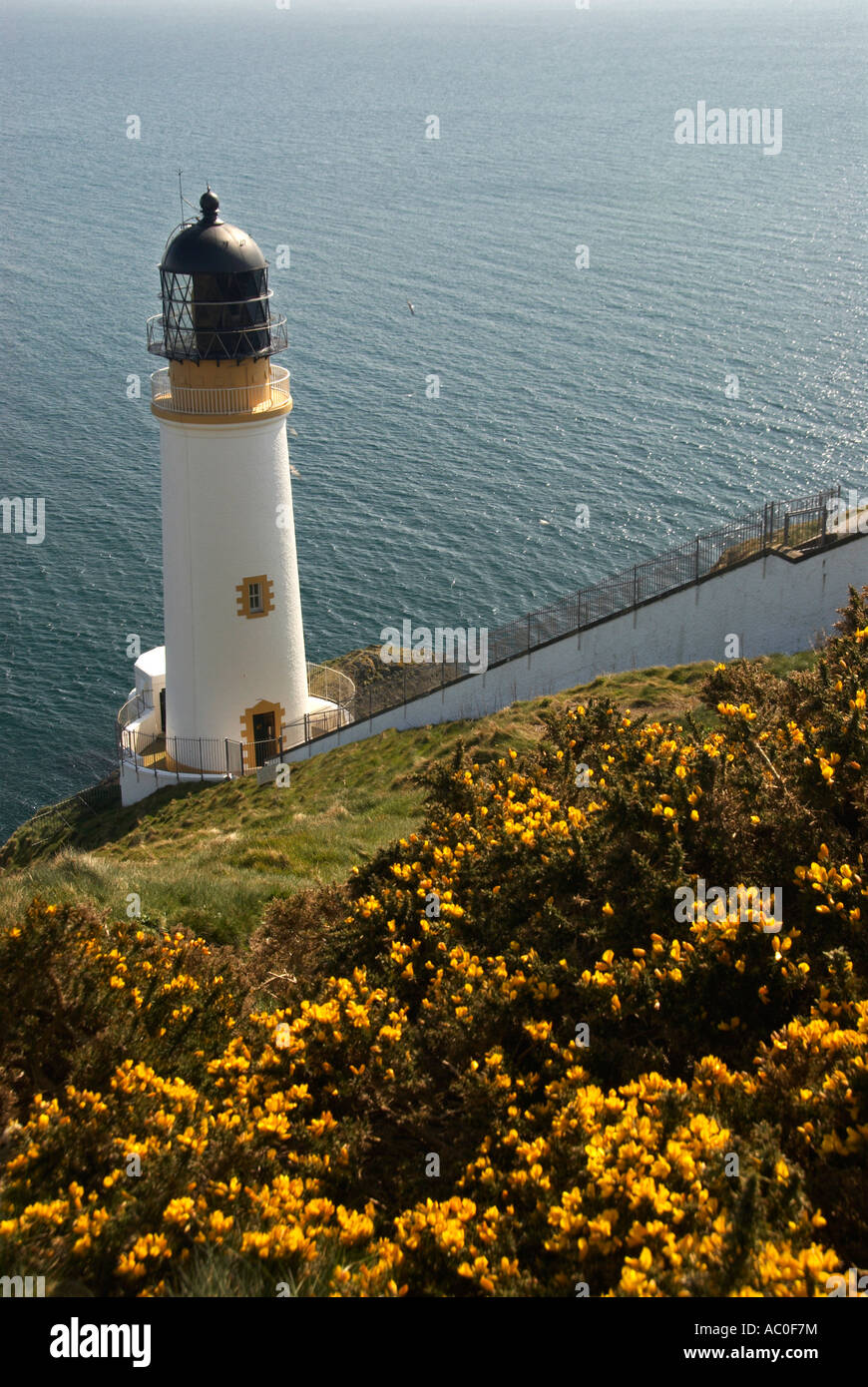 The Lighthouse At Maughold Head IOM - Stock Image