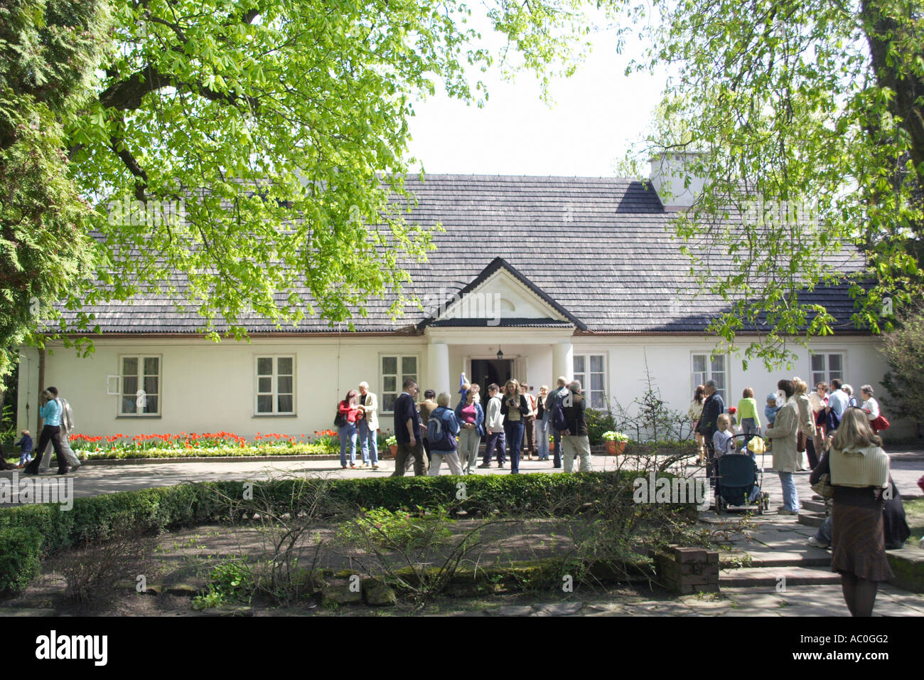 People in Zelazowa Wola, Frederic Chopin's birthplace, Poland - Stock Image