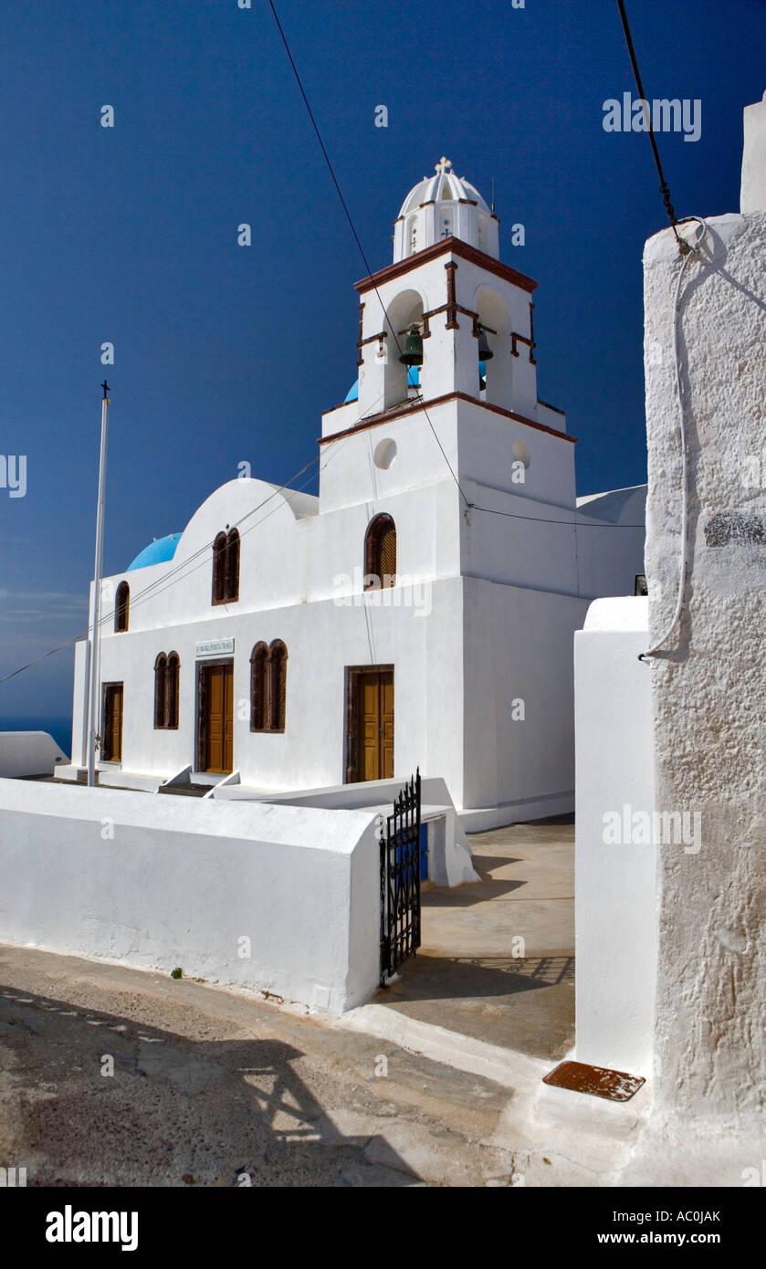 Agios Konstantinos - Manolas, Thirassia, Santorini, Greece - Stock Image