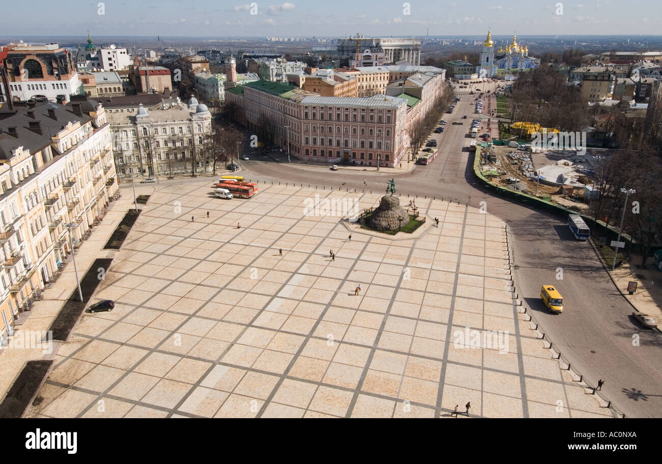 'Aerial view of Kyiv Kiev Ukraine' - Stock Image