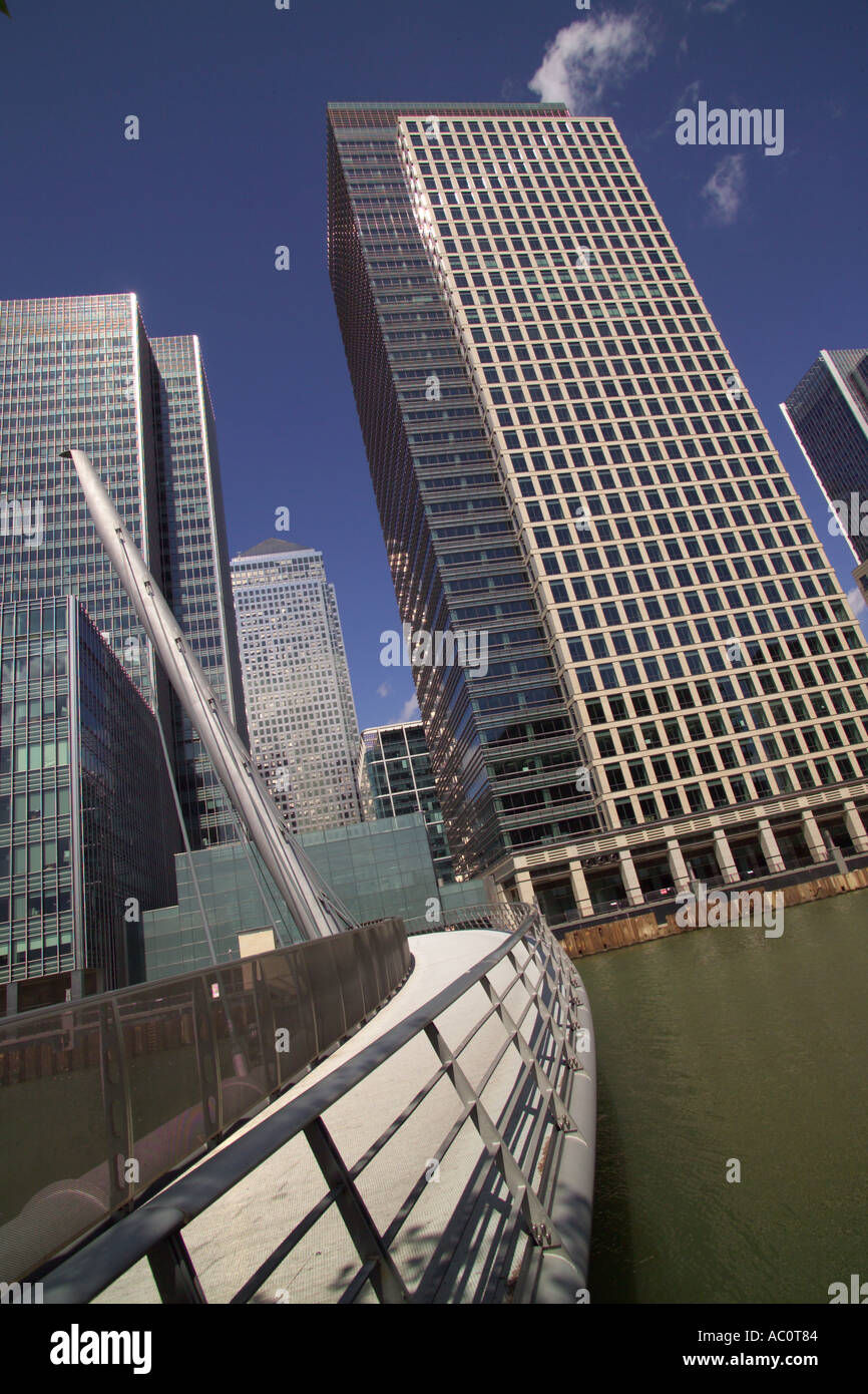 Canada Square and 40 Bank Street Canary Wharf London Stock Photo
