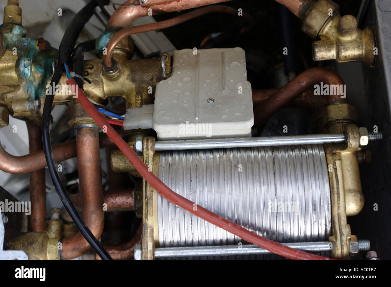 Parts from a central heating system removed to make way for a new ...