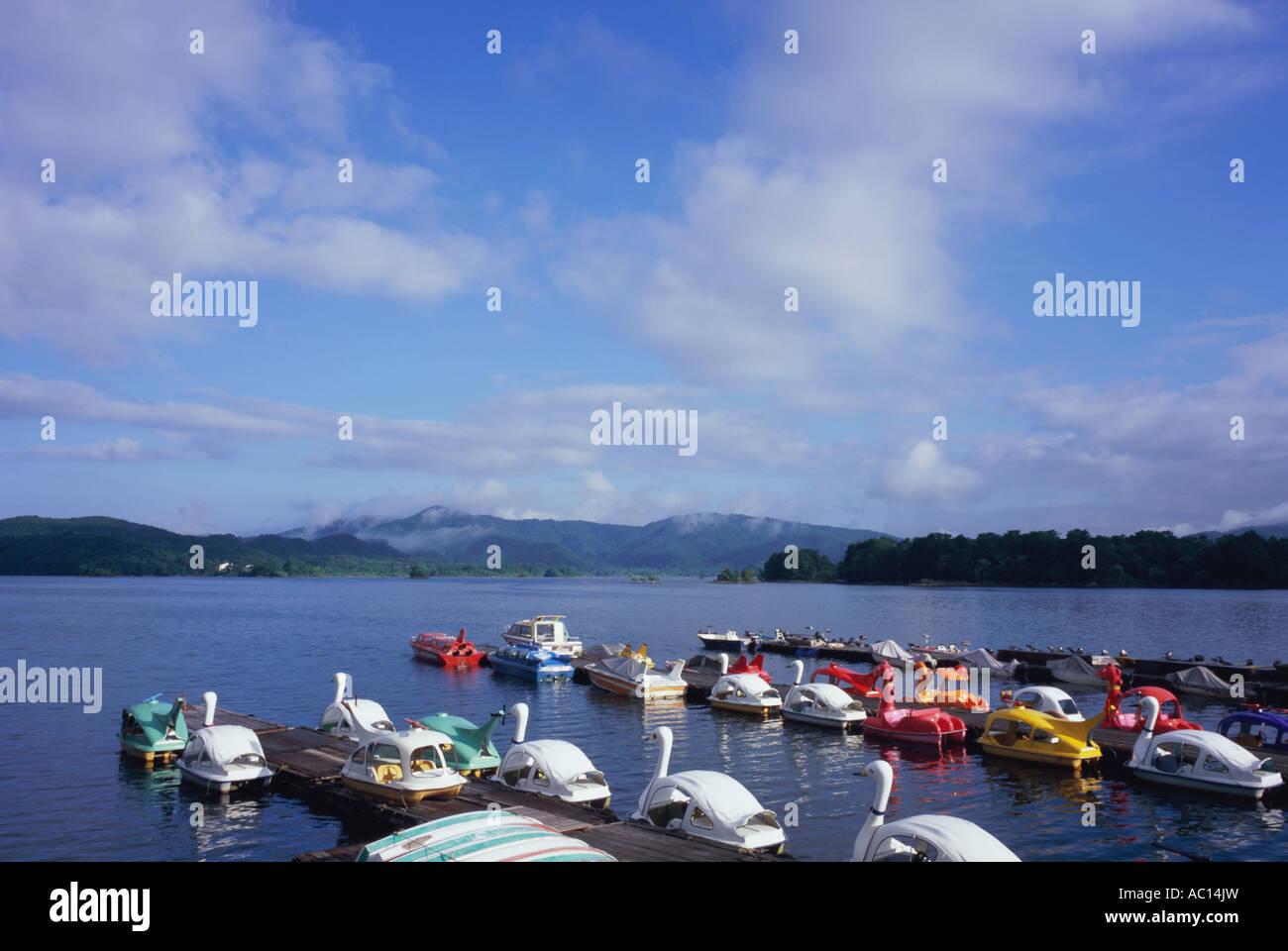 Hibara Lake in Fukushima Prefecture Japan - Stock Image