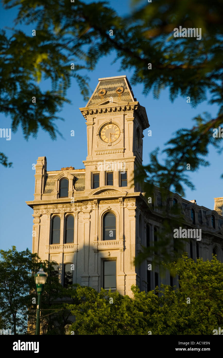 Historic Gridley Building, Second Empire Style, Clinton Square, Syracuse, New York - Stock Image