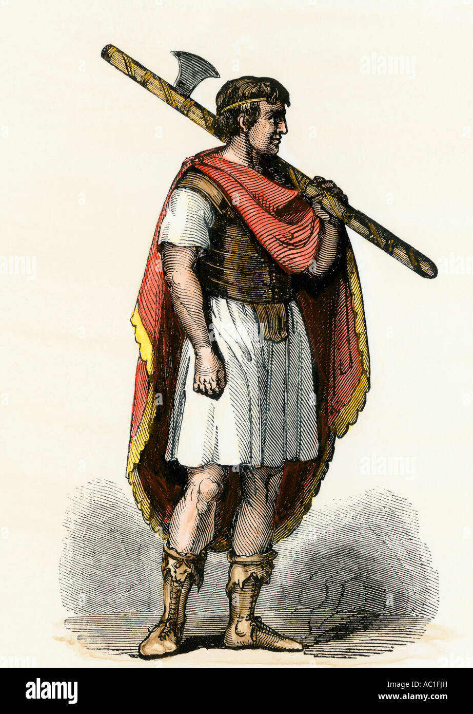 Roman Lictor Bearing The Fasces The Symbol Of His Office Stock Photo