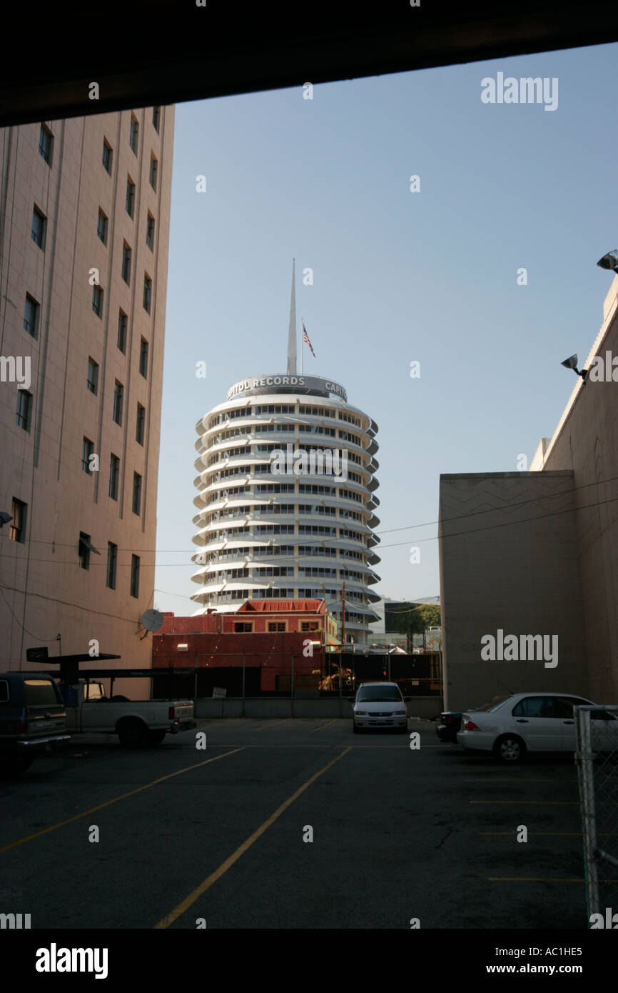 Hollywood Records: Capitol Records Building Hollywood Stock Photos & Capitol