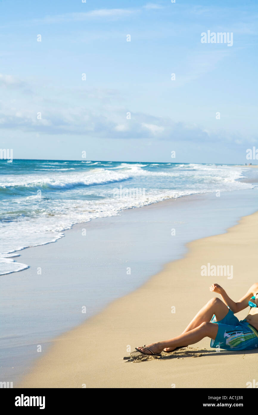 Spain, Fuerteventura, heavenly beach - Stock Image