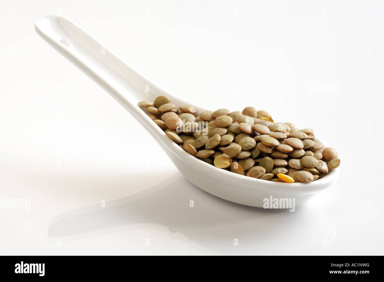 Dried Lentils - Stock Image