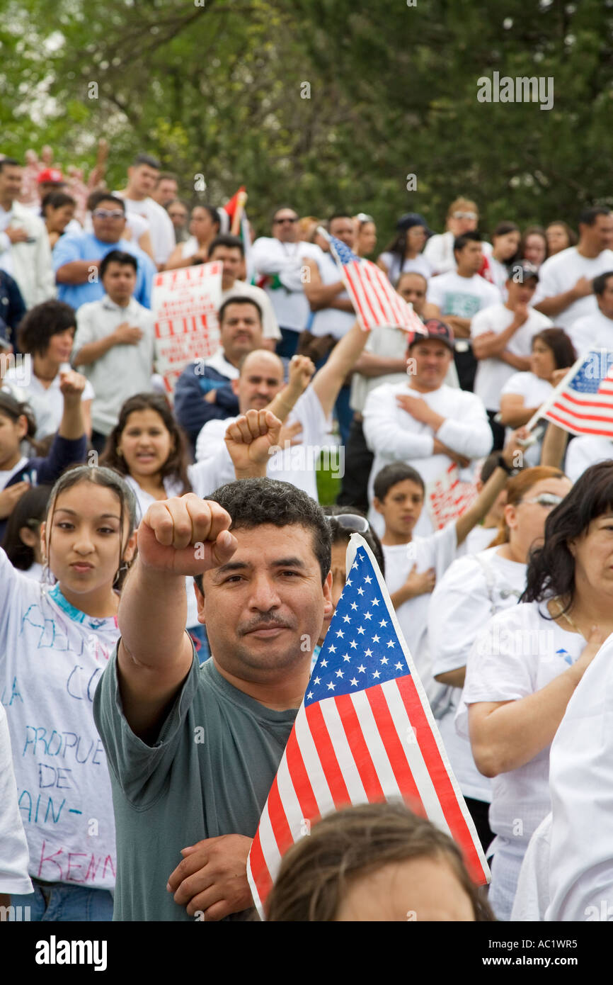 Rally for Immigrant Rights - Stock Image