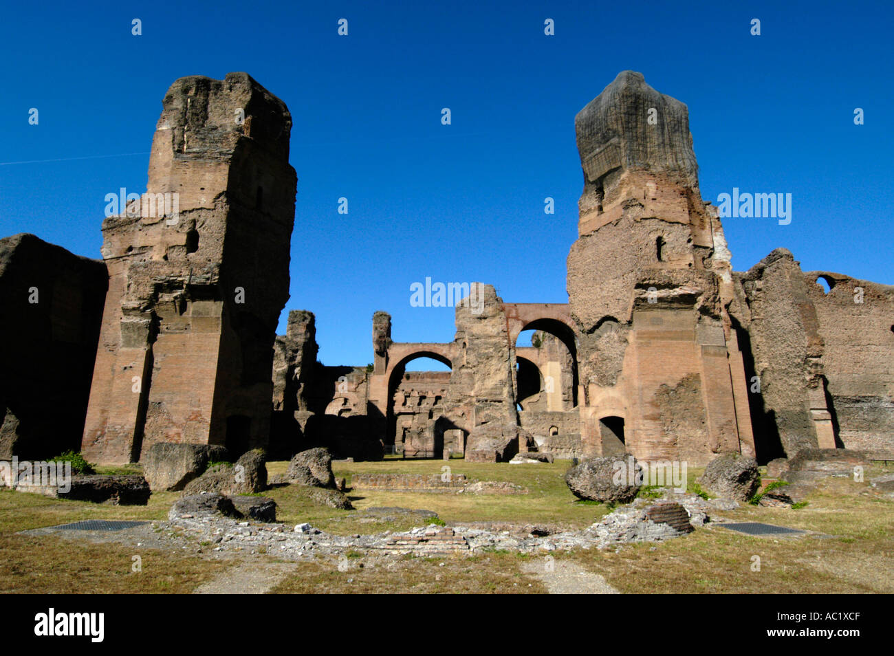 The Baths of Caracalla Rome Italy - Stock Image