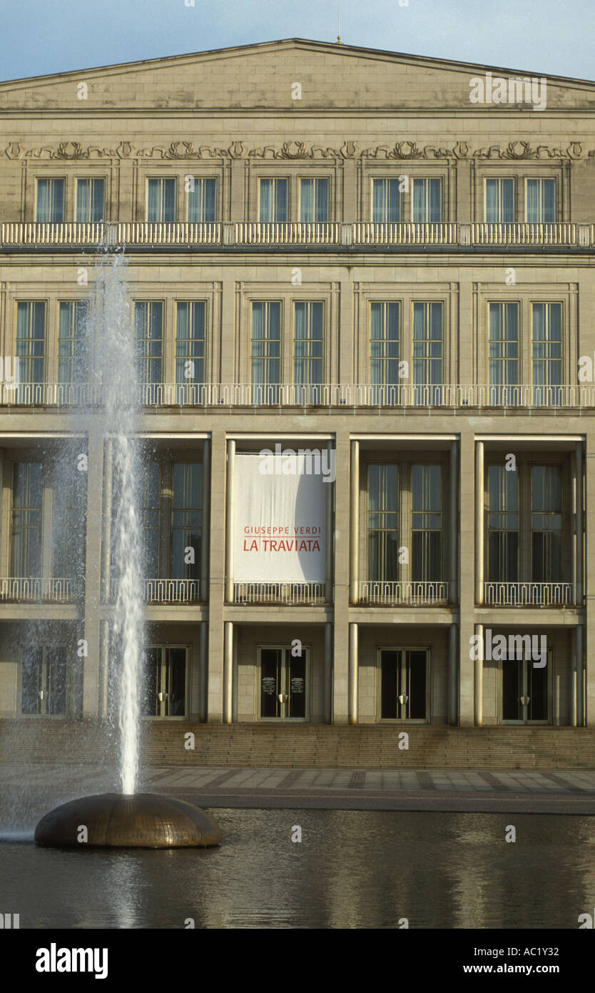 Opera House At The Place Augustusplatz Leipzig Saxony Germany Stock Photo Alamy