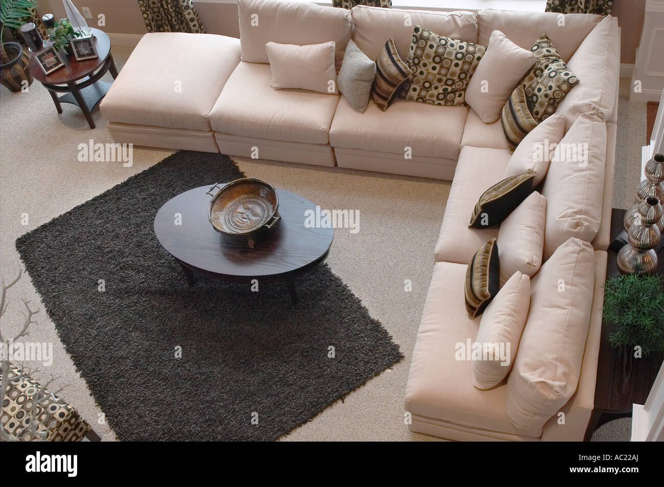 Family Living Room Aerial View Stock Photos Family Living Room