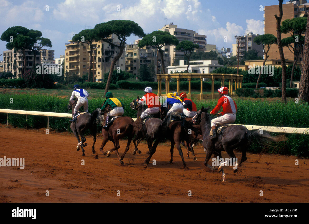 Horse Racing At The Hippodrome Near Former Green Line Beirut Lebanon