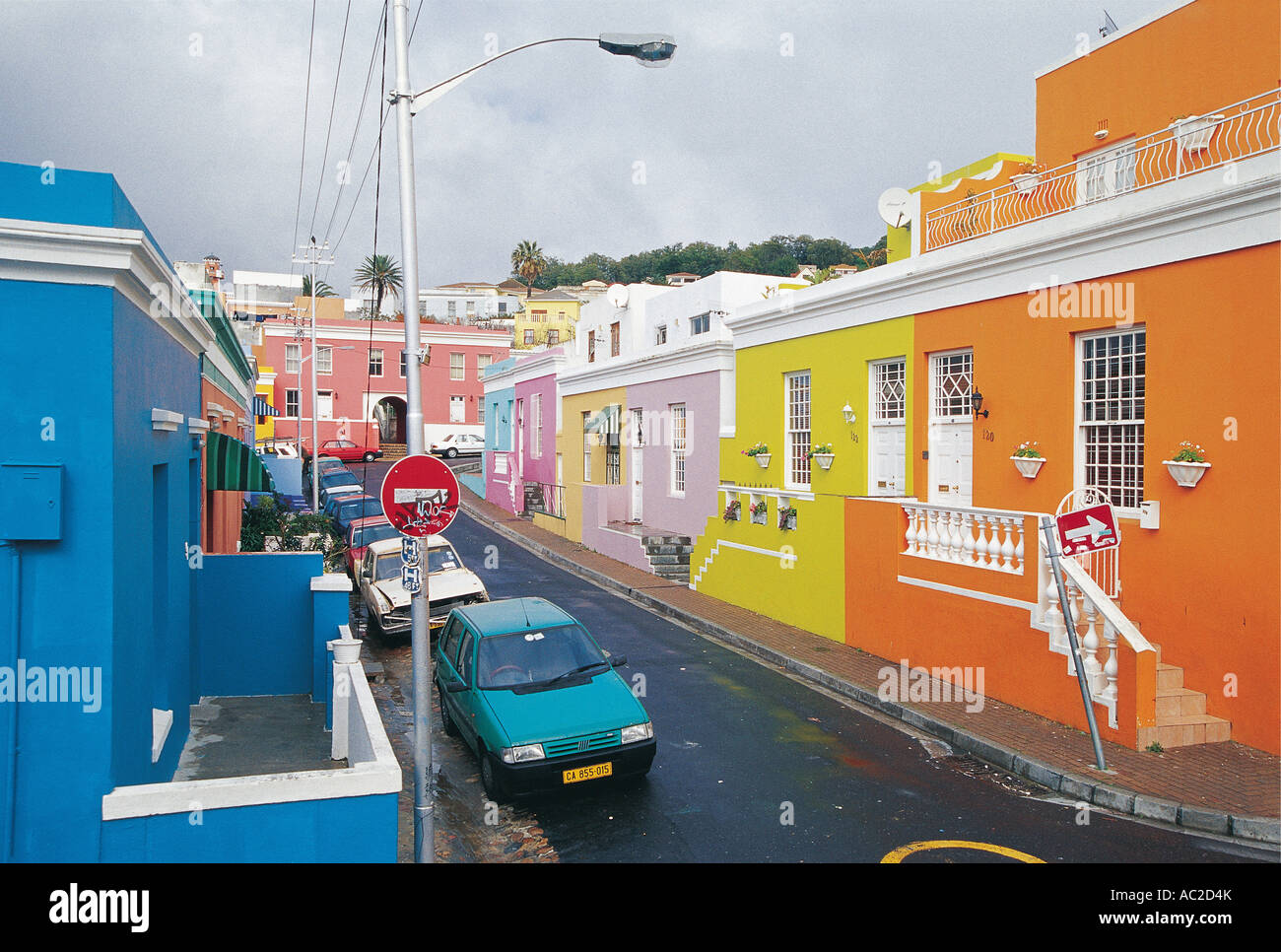 Bo Kaap Colourful Malay Quarters Cape Town South Africa - Stock Image