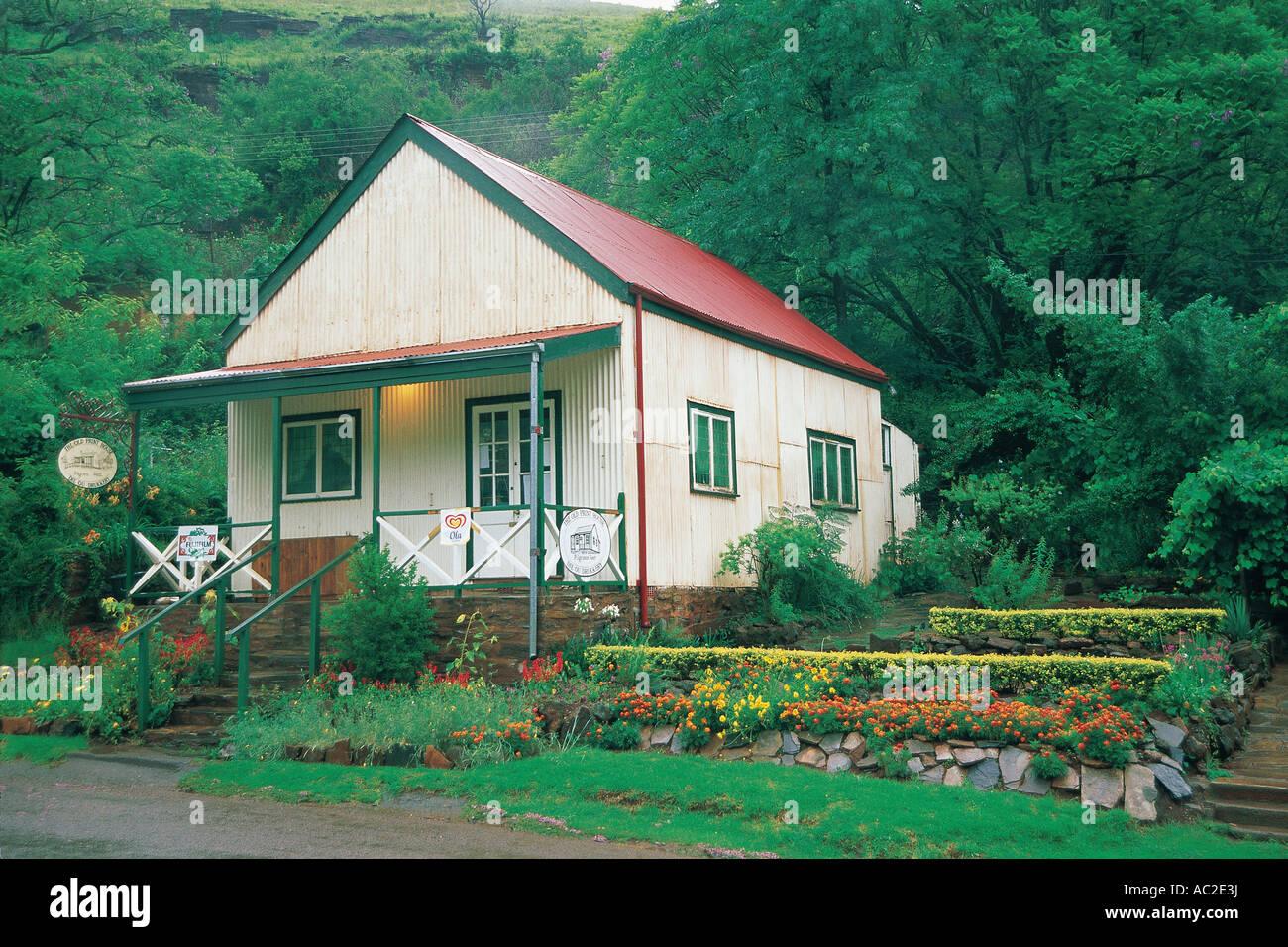 The Old Print House Pilgrim s Rest historic gold mining village Mpumalanga South Africa - Stock Image