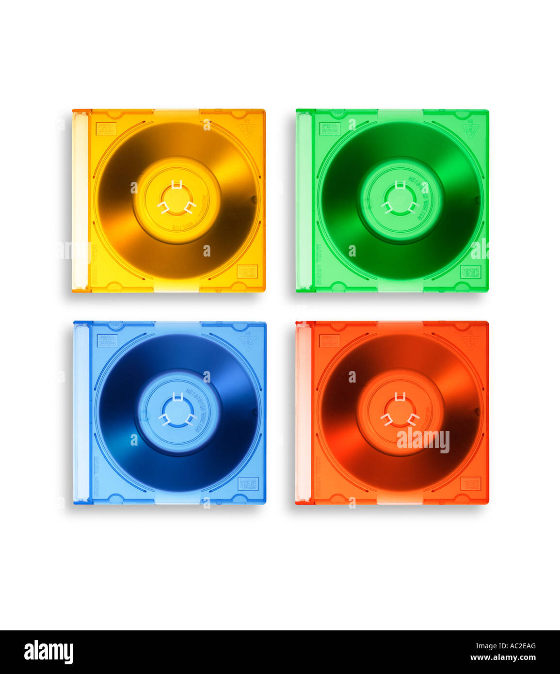 mini CD s compact disks - Stock Image