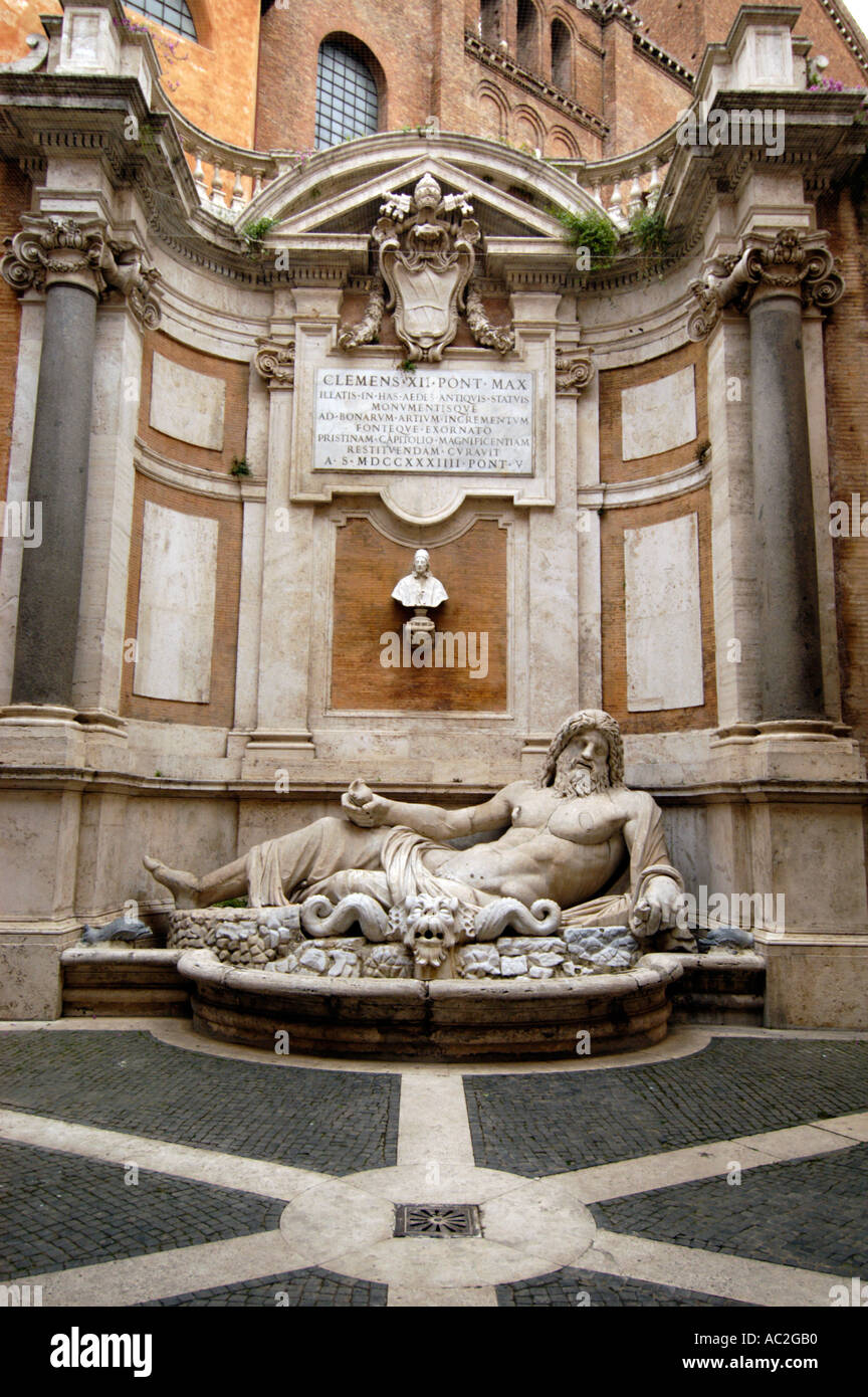 Sculpture in the Palazzo Nuovo at the Capitoline Museums Rome Italy - Stock Image