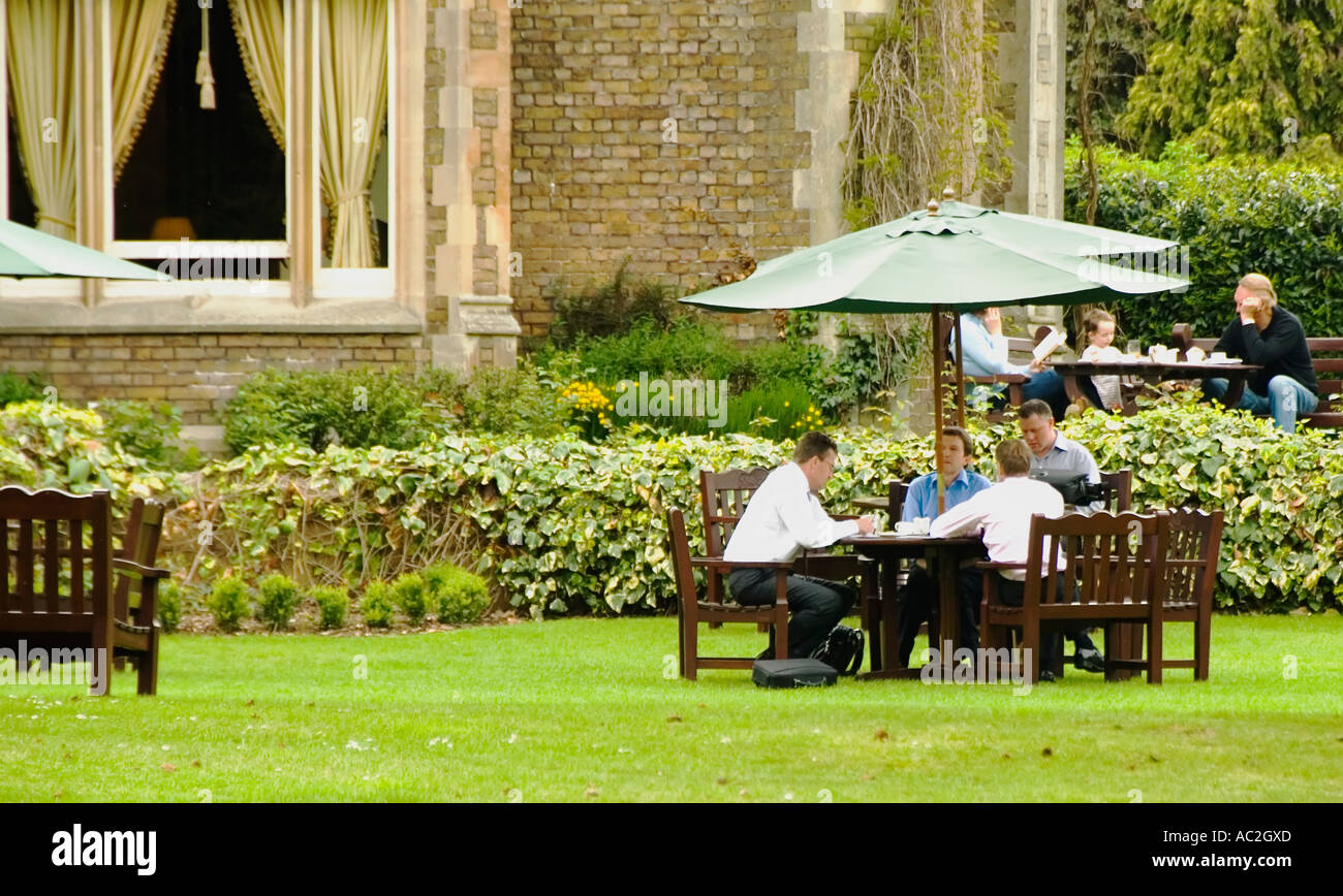 Business meeting in the garden stock photo 7440044 alamy - Olive garden interview questions ...