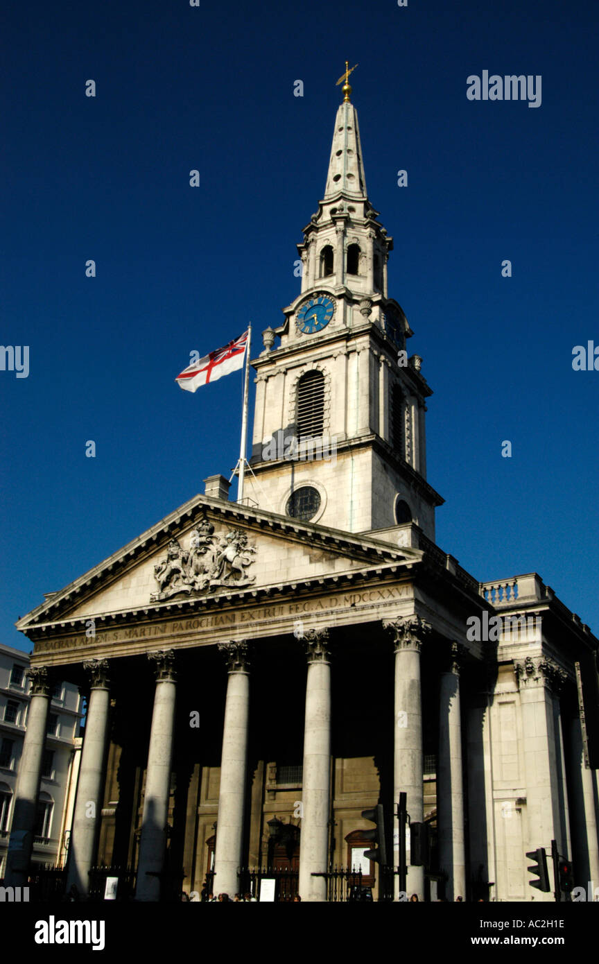 St Martin in the Fields Trafalgar Square Westminster London England UK - Stock Image