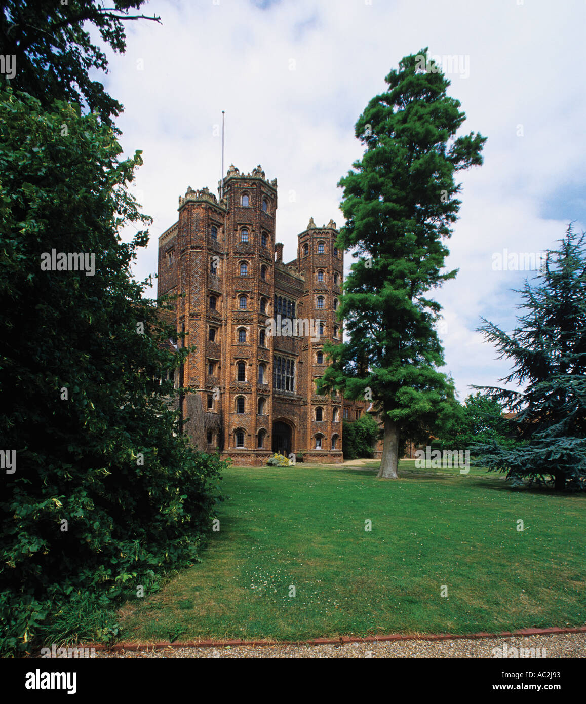 The 80 foot Tower at Layer Marney built in 1500 by Sir Henry Marney who died in 1523 Seven miles South West of Colchester - Stock Image