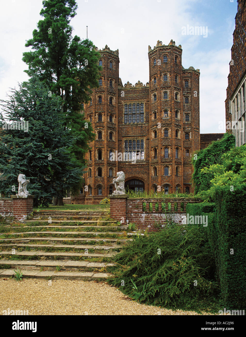 The 80 foot Tower at Layer Marney built in 1500 by Sir Henry Marney who died in 1523 7 miles SW of Colchester - Stock Image