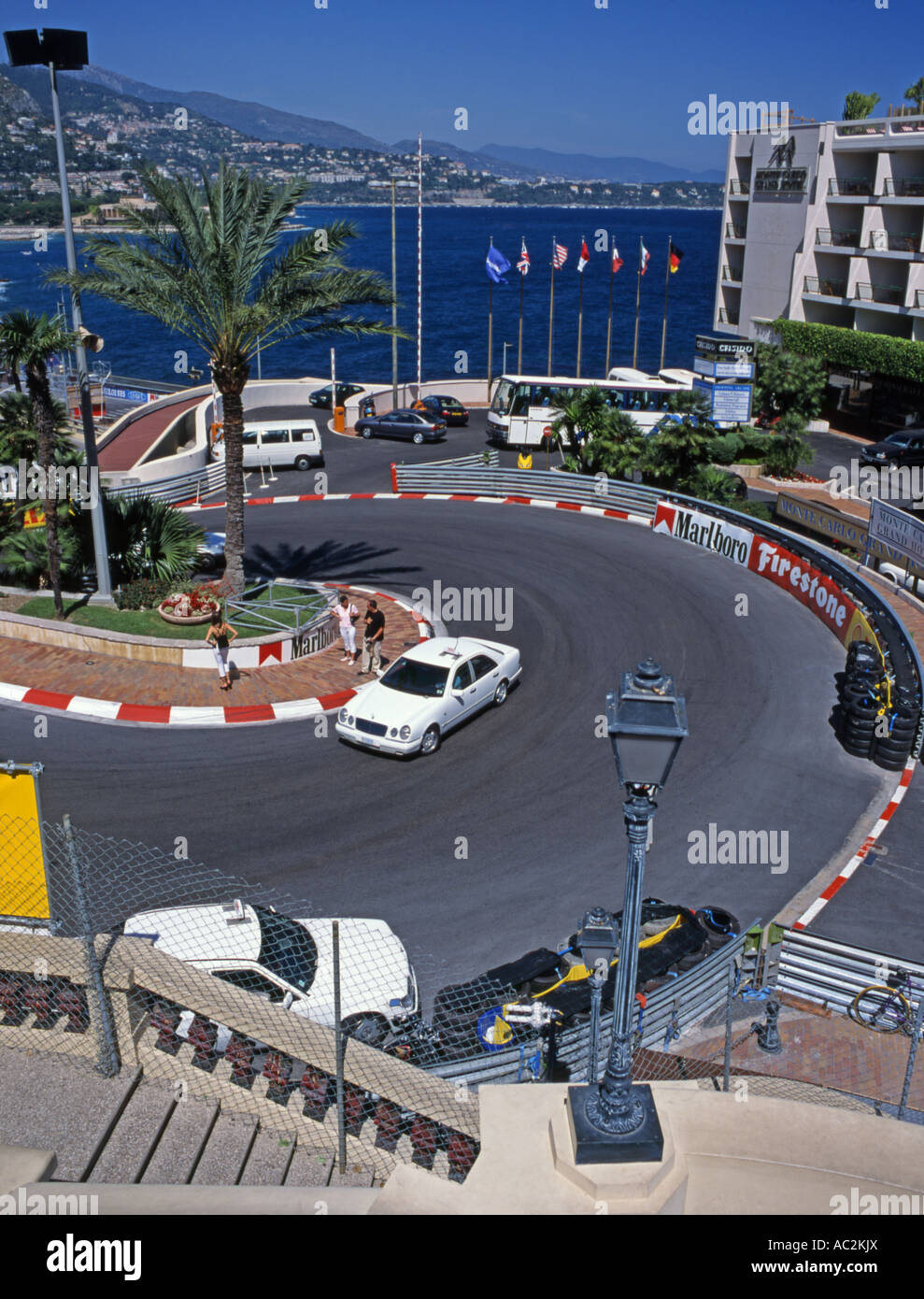 Monte Carlo Monaco F1 Grand Hotel Hairpin Bend Shortly After Grand Stock Photo Alamy