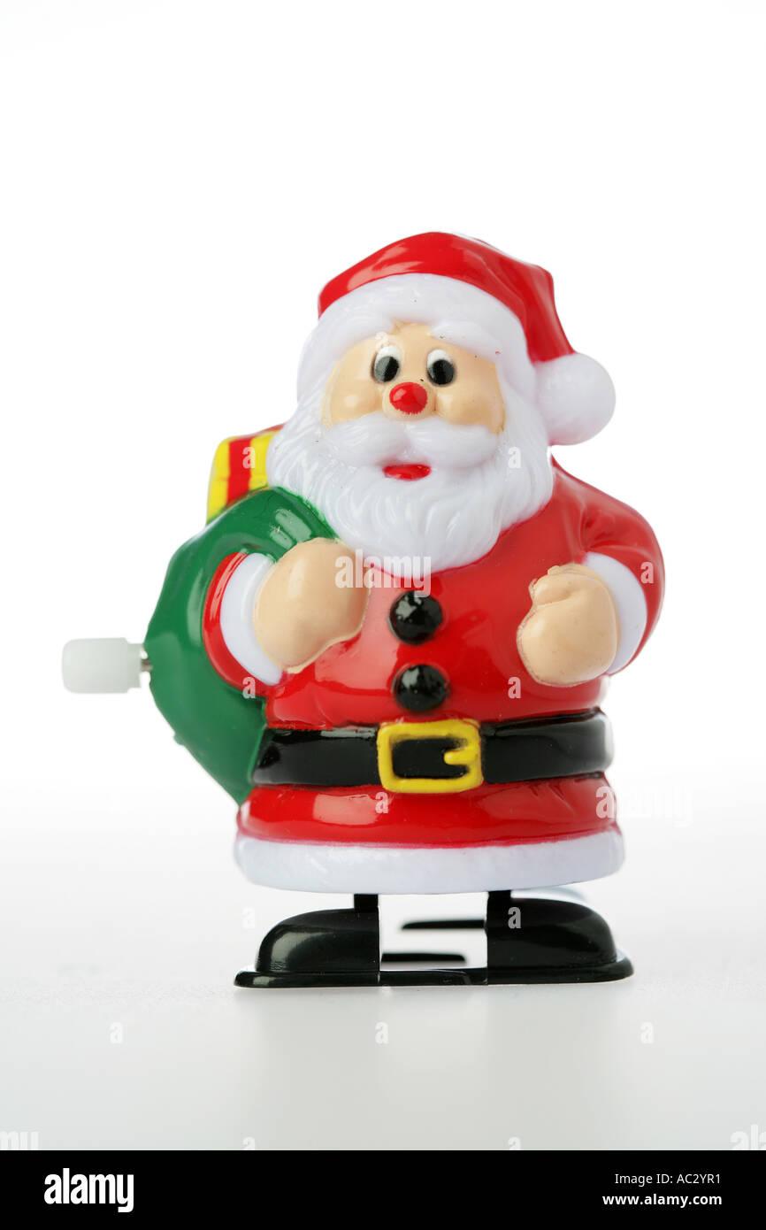 DEU, Germany : Plastic Santa Claus toy - Stock Image
