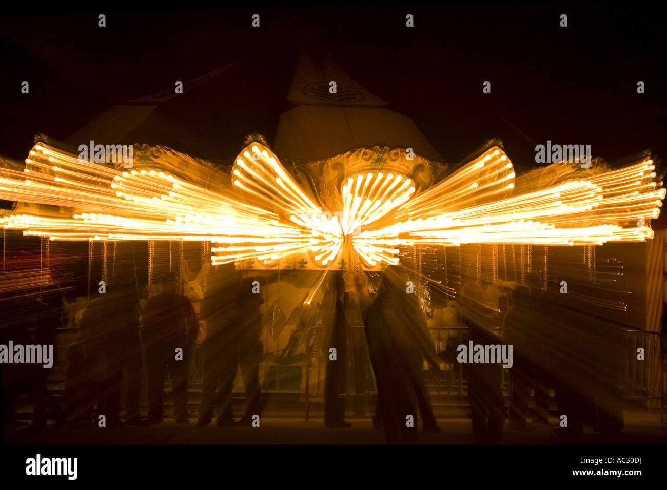 Merry-go-round abstraction - Stock Image