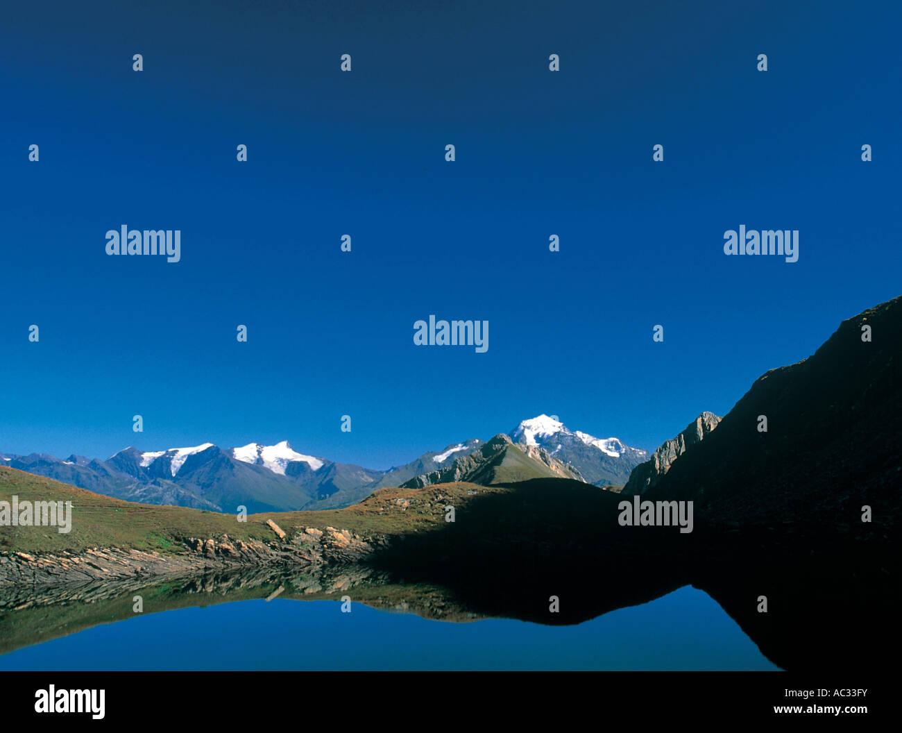 area called the 5 lakes under Bourg Saint Maurice, France, Savoie, Nationalpark Vanoise - Stock Image