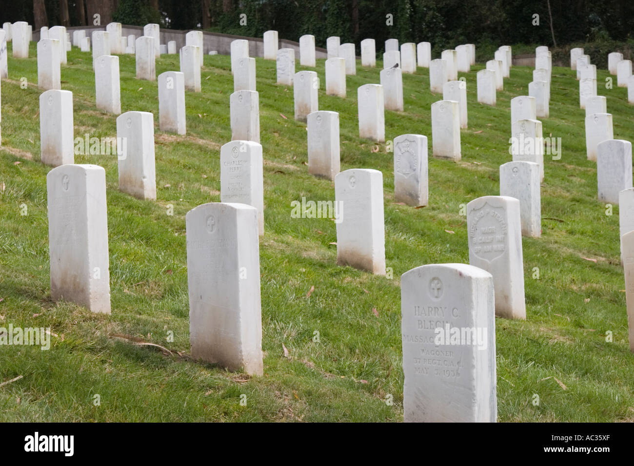 San Francisco National Cemetery in the Presidio of San Francisco Golden Gate National Recreation Area California Stock Photo