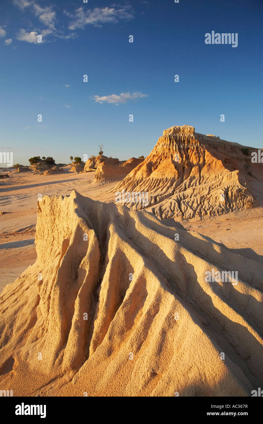 Walls of China Formations Mungo National Park Outback New South Wales Australia Stock Photo
