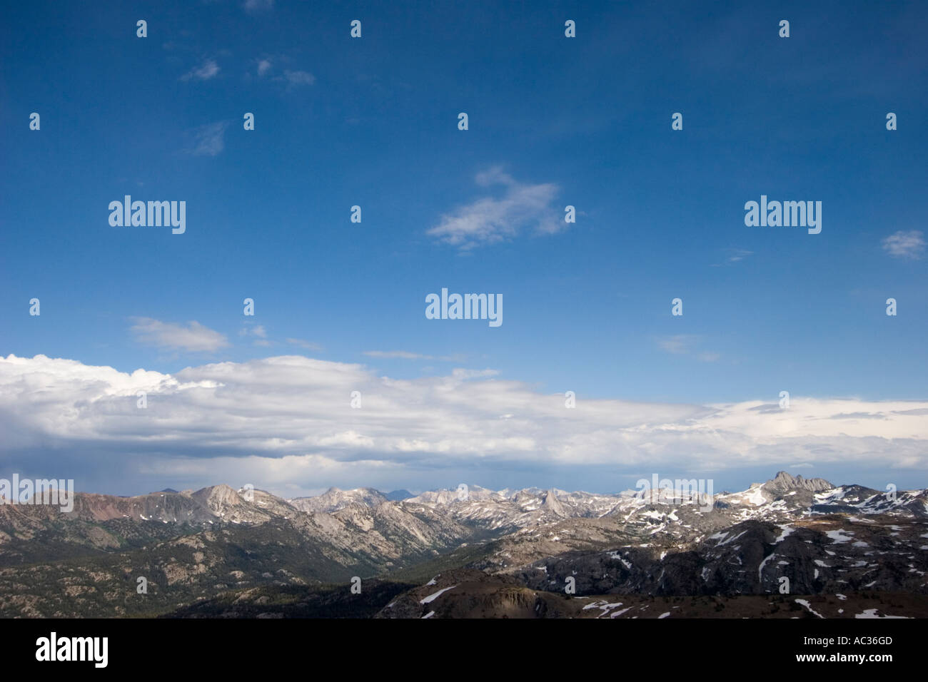 View from the summit of Big Sam Emigrant Wilderness Area CaliforniaStock Photo