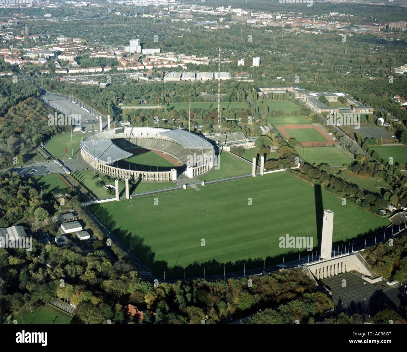 Olympiastadion Maifeld Marathonder, Germany, Berlin - Stock Image